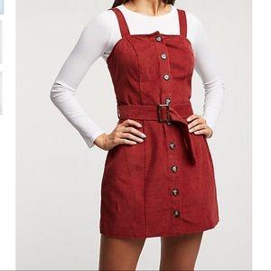 Curdoroy button up dress
